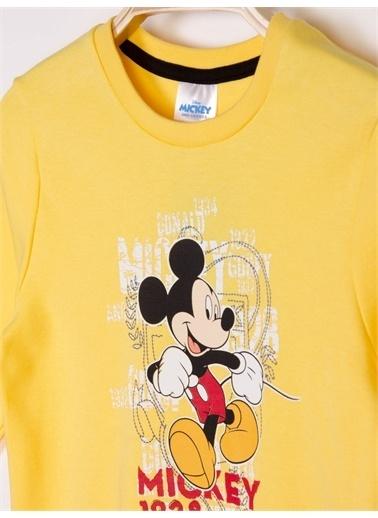 Mickey Mouse Mickey Mouse Lisanslı Çocuk Pijama Takım 18484 Sarı
